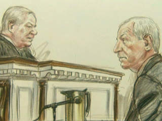 Jerry Sandusky sketch in court