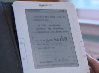 Amazon Kindle e-book reader