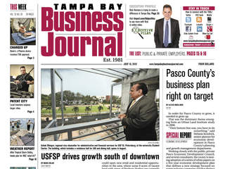 Tampa Bay Business Journal cover July 13 2012