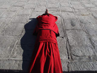 File photo Tibetan monk