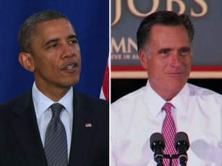 President Obama Mitt Romney split-screen