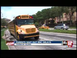 Armed guards join kids on school buses through RNC zone