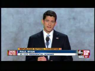 Paul Ryan accepts nomination for VP