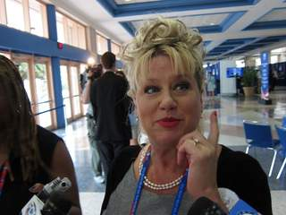 Victoria Jackson speaks her mind at the RNC about Rep. Todd Akin's rape comments.