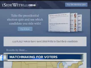 Website ISideWith.com matches voters to candidates