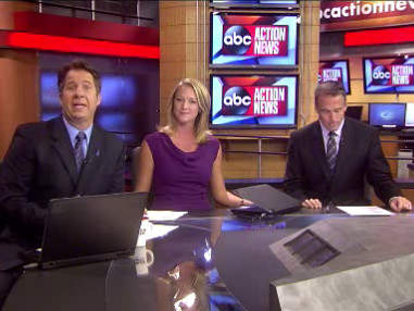 Weekend News cast honoring DV month