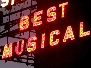 Broadway Best Musical sign