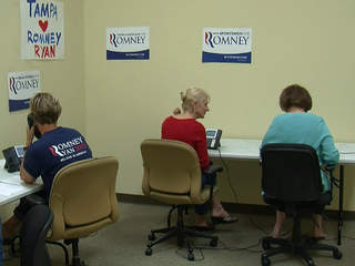Romney campaign volunteers in Tampa