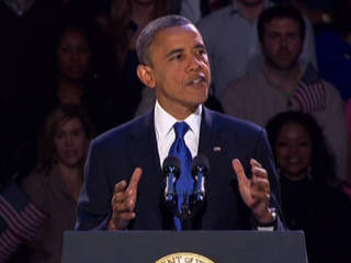 President Obama winning speech