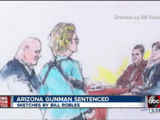 Jared Loughner gets life sentence in Arizona shootings that killed six, wounded Rep. Giffords