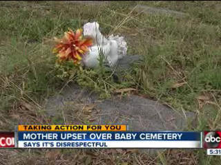 Mother says Royal Palm Cemetery South does not repsect the dead children buried there