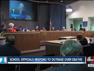 Parents fired up at school board meeting over district's handling of recent student deaths