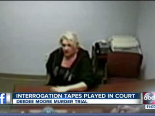 During interrogation, DeeDee Moore offers multiple explanations for Shakespeare's death