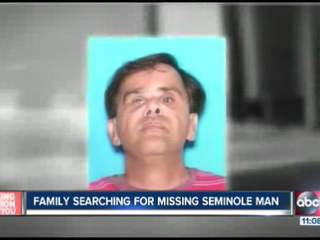 Family searching for Seminole man missing for eight days