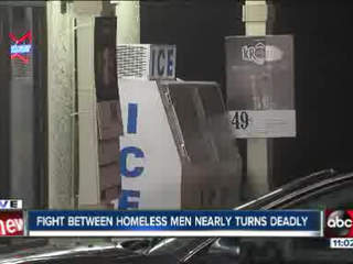 Homeless man beaten with axe handle
