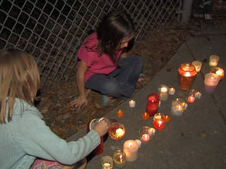 candles lit for Sandy Hook victims