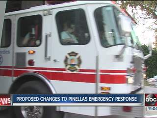 Pinellas fire response changes draw fire