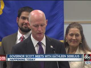 Gov. Scott makes case for second term