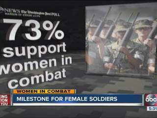 Lifting  combat ban opens up opportunity for women in the military