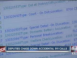 Accidental calls, sometimes called 'butt dialing,' is a headache for 911 operators