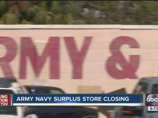 Army-Navy Surplus store closing after 75 years in downtown Tampa