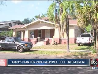Tampa unveils new plan for quick response code enforcement