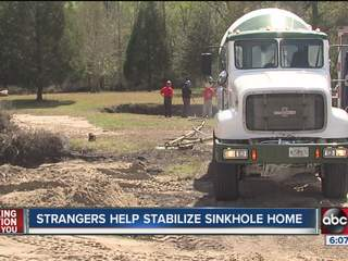 Company steps in to help a Brooksville family escape a sinking situation