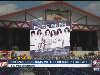 Foreigner invites St. Pete Catholic chorus to sing on stage at Florida Strawberry Festival