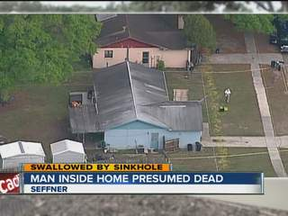 Seffner man swallowed by sinkhole in home presumed dead