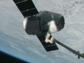 Dragon capsule International Space Station