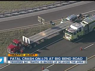 Hillsborough deputies: Southbound I-75 at Big Bend Road down to one lane after traffic crash