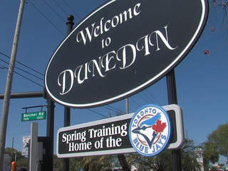 Dunedin sign spring home of Toronto Blue Jays