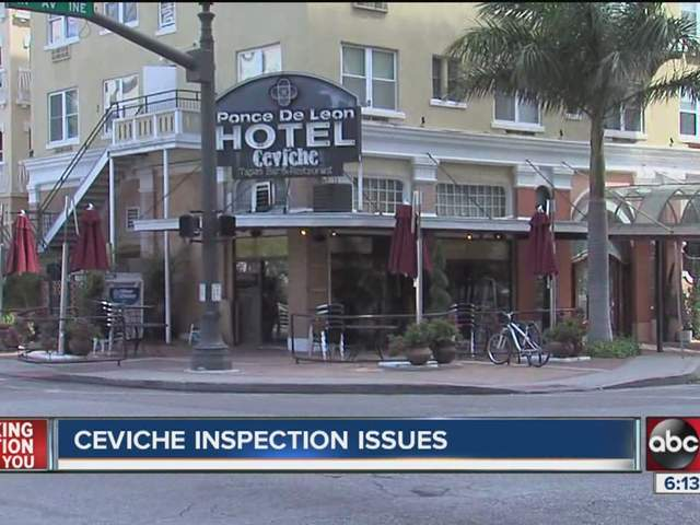 The restaurant monday at the tampa restaurant the restaurant and bar - Ceviche In St Pete Closed After Violations Uncovered In