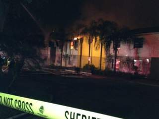 Tampa Road closed following apartment fire, residents from eight units displaced