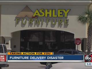 Furniture Delivery Truck Hits Power Pole Customer Left To Pay Damages Wfts Tv