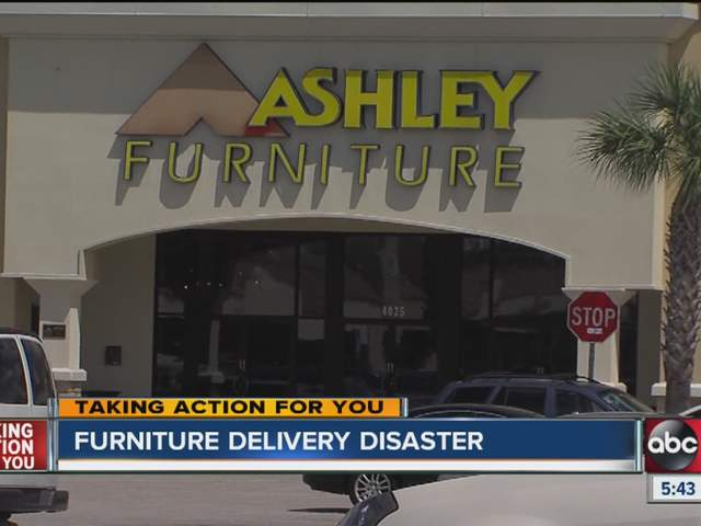 Furniture Delivery Truck Hits Power Pole Customer Left To