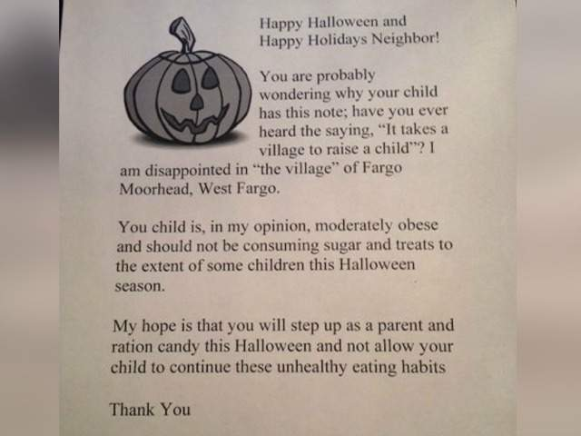 is north dakota womans fat shaming halloween letter to obese kids a radio station prank - Kids Halloween Radio