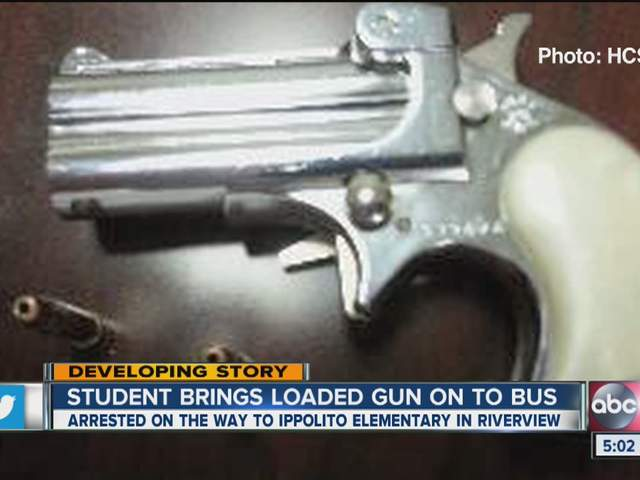 loaded gun on a school bus headed toward Ippolito Elementary School ...