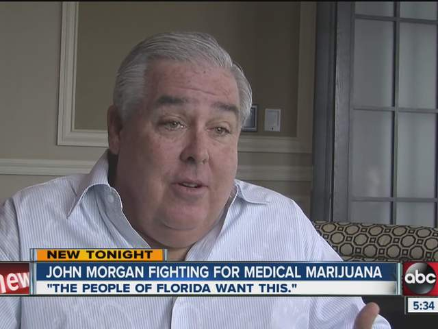 Lawyer John Morgan's support of medical marijuana is based on his ...