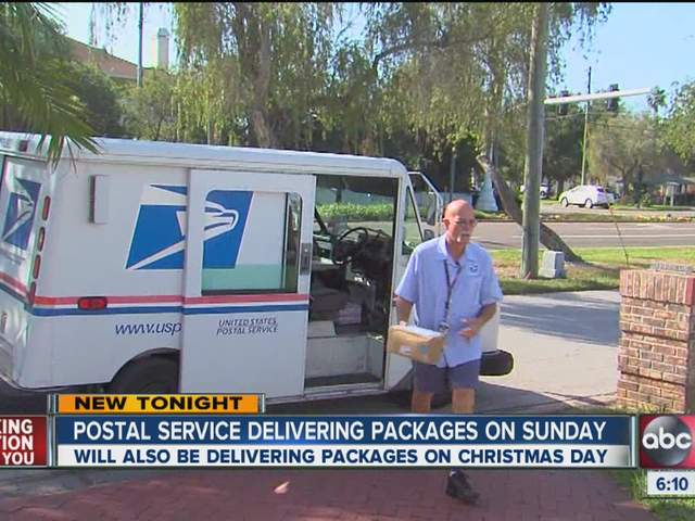 Postal Service delivering packages on Sunday and Christmas Day ...