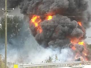 Driver killed in tanker explosion