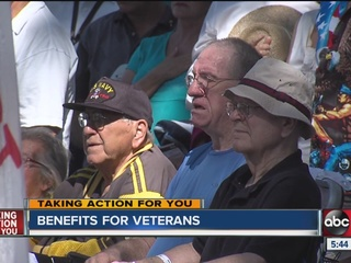 Benefits available for care of aging veterans