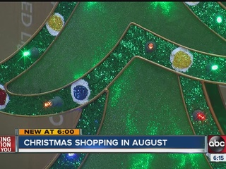 Sam's Club stocking holiday items in August