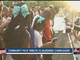 Murdered cheerleader honored at first home game