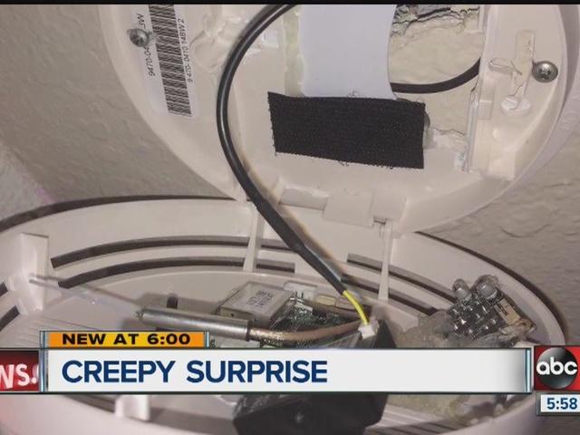 woman discovers hidden cameras in bedroom