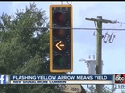 Yellow arrow traffic signals getting popular