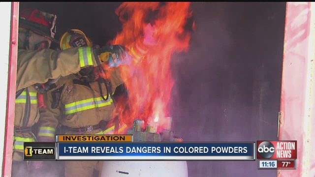 Color run powder found to be extremely flammable when airborne ...