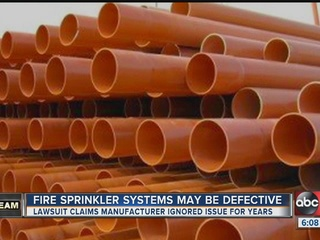 Safety warning about residential fire sprinklers