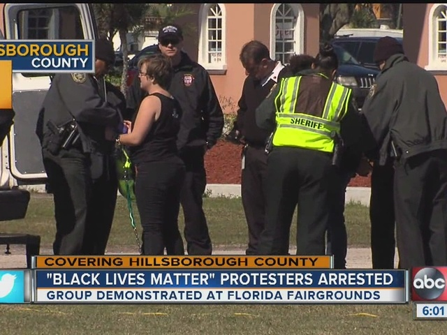 Protesters arrested outside Florida State Fair