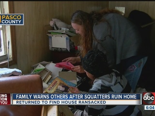 Squatters take over Pasco Co. home